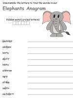 Index C Anagram Hidden Elephants on writing printable kindergarten worksheets