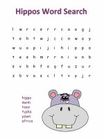 Hippo word search