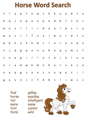 picture relating to Printable Word Searches for Adults Hard named Horse Term Lookups