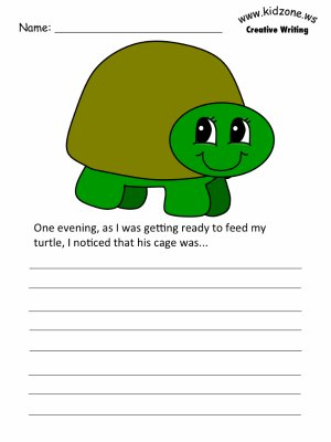 Superb Turtle Writing Prompt