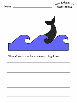 Whales Writing Prompt