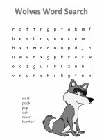 Wolves word search.