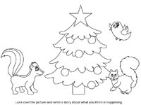 christmas creative writing worksheets - Holiday Printables For Kids