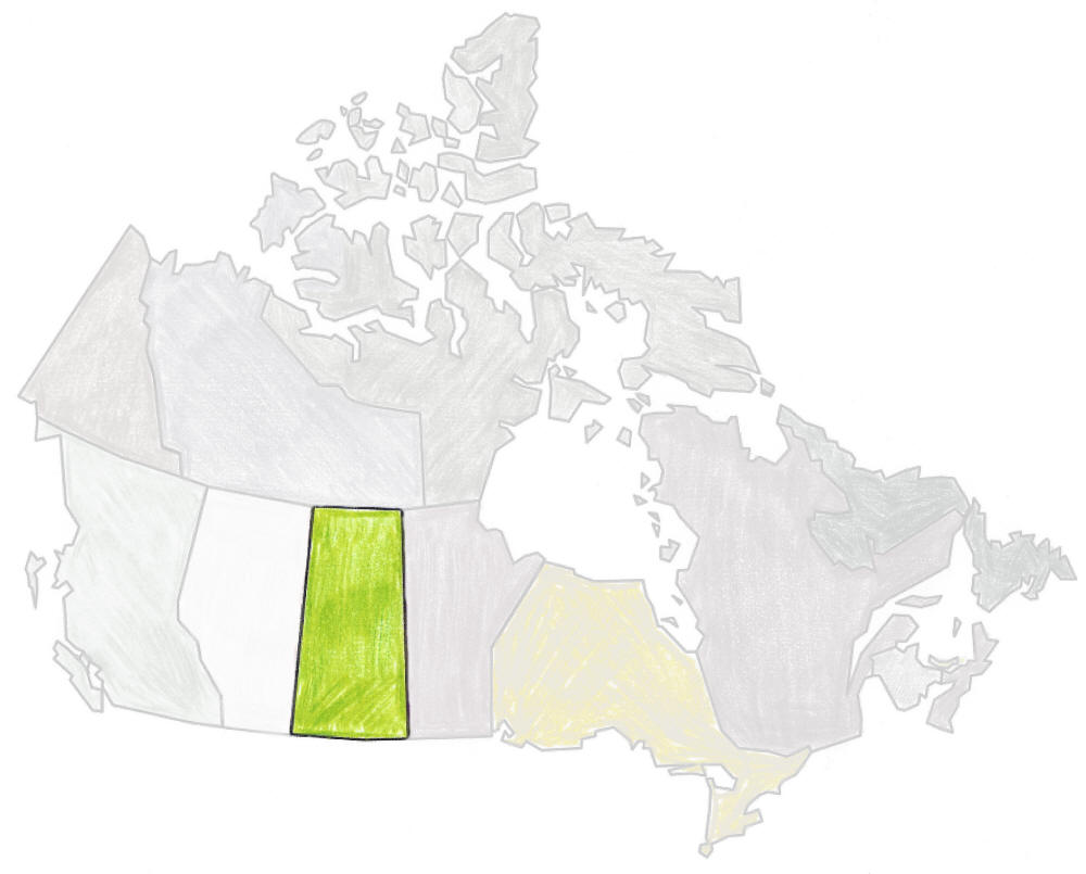 map of canada saskatchewan