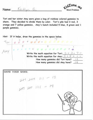 free printable math worksheets math word problem worksheets kidzone math